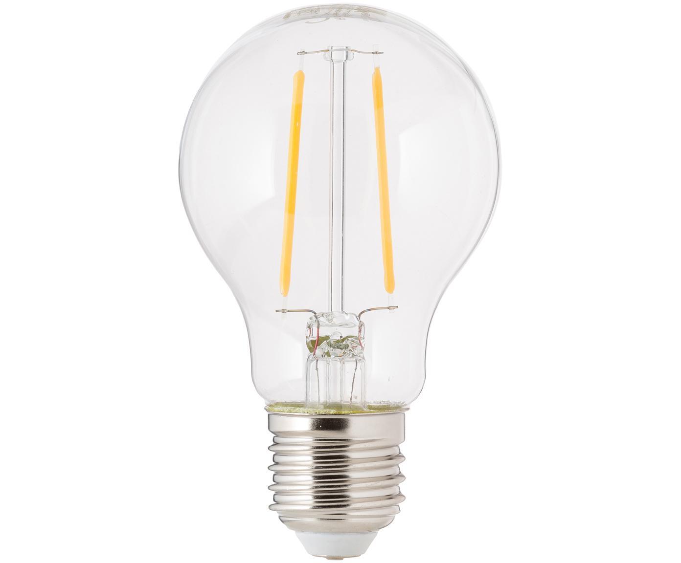 Bombilla LED Humiel (E27/4,6W), Ampolla: vidrio, Casquillo: aluminio, Transparente, Ø 8 x Al 10 cm