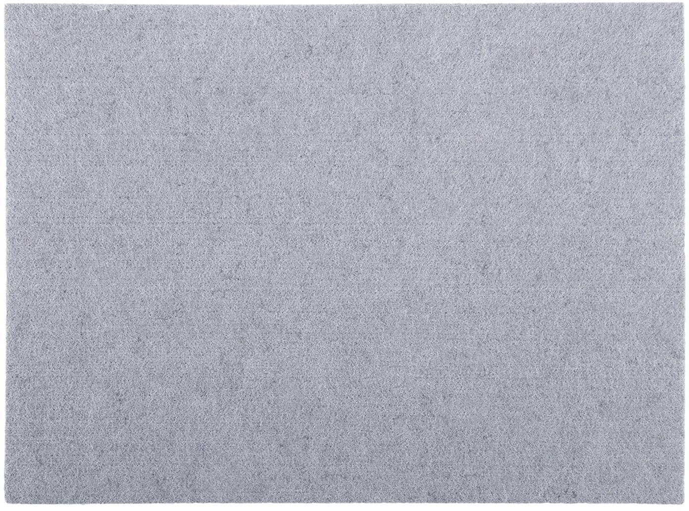 Tischsets Felto aus Filz, 2 Stück, Filz (Polyester), Grau, 33 x 45 cm