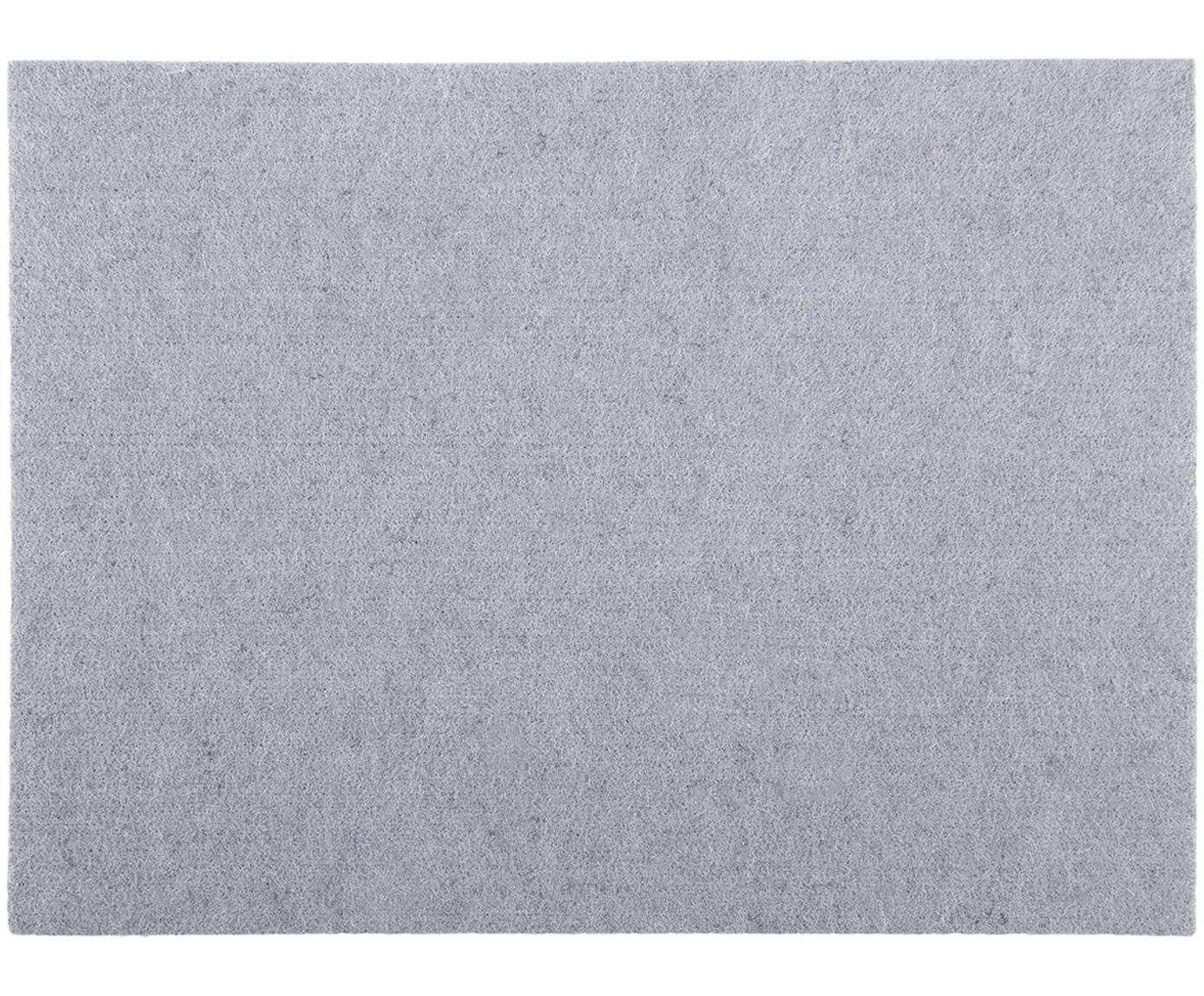 Placemats Felto van vilt, 2 stuks, Grijs, 33 x 45 cm