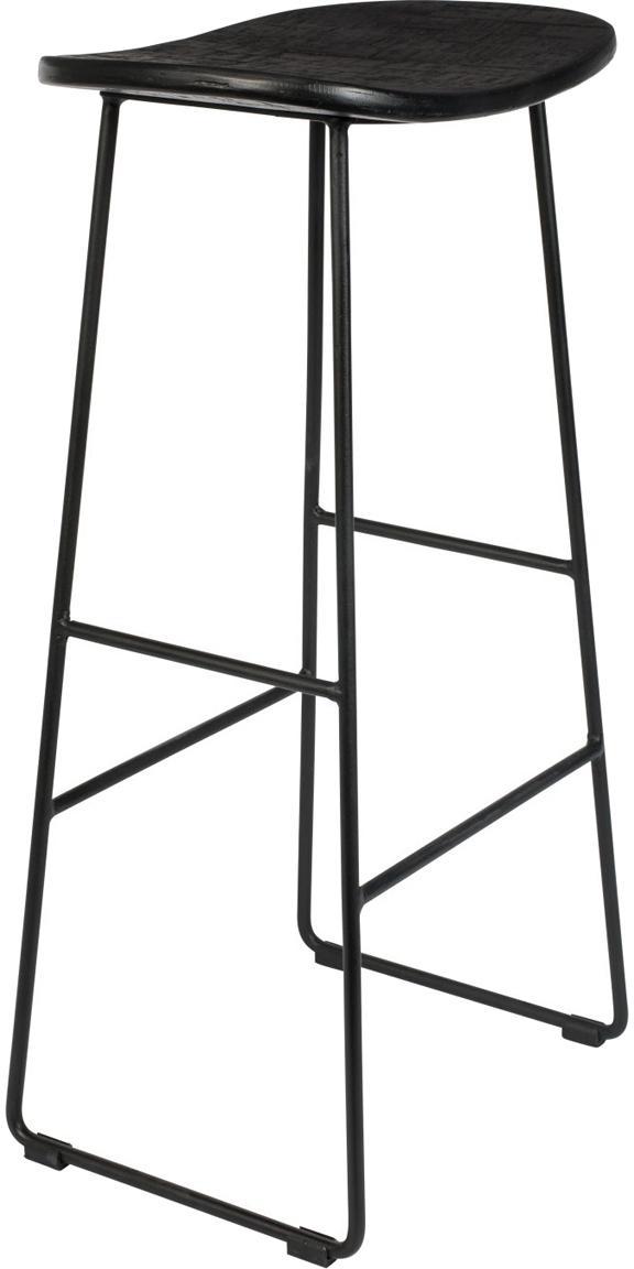 Stołek barowy Tangle, Nogi: metal malowany proszkowo, Czarny, S 40 x W 80 cm