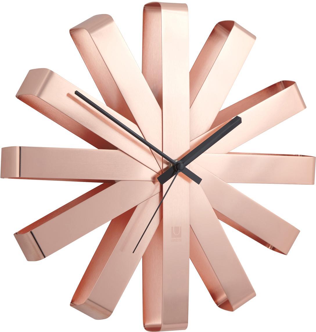 Reloj de pared Ribbon, Agujas: metal, Bronce, Ø 30 cm