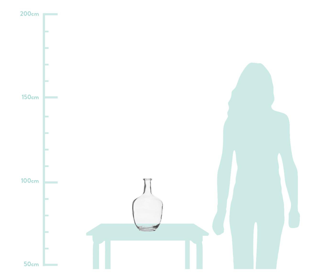 Duży wazon ze szkła Glassyia, Szkło, Transparentny, Ø 17 x W 31 cm