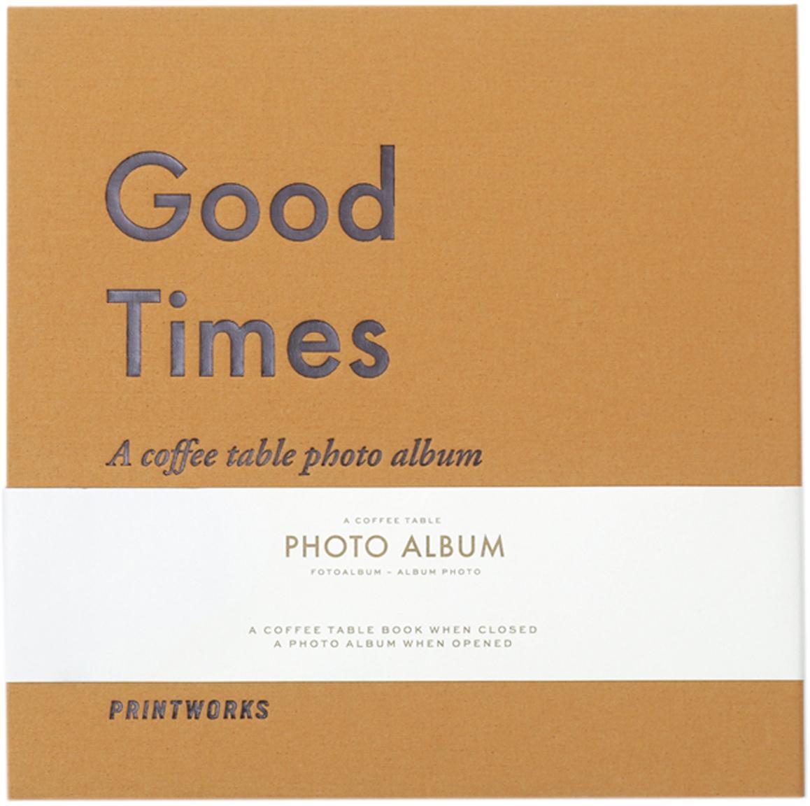 Album fotografico Good Times, Giallo, grigio, bianco, nero, Lung. 25 x Larg. 25 cm