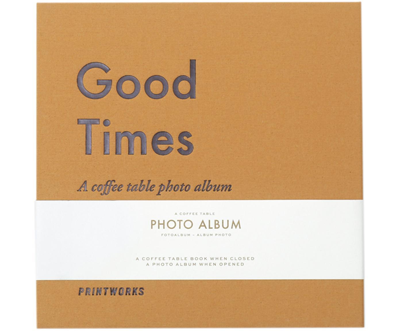 Album na zdjęcia Good times, Żółty, szary, biały, czarny, D 25  x S 25 cm