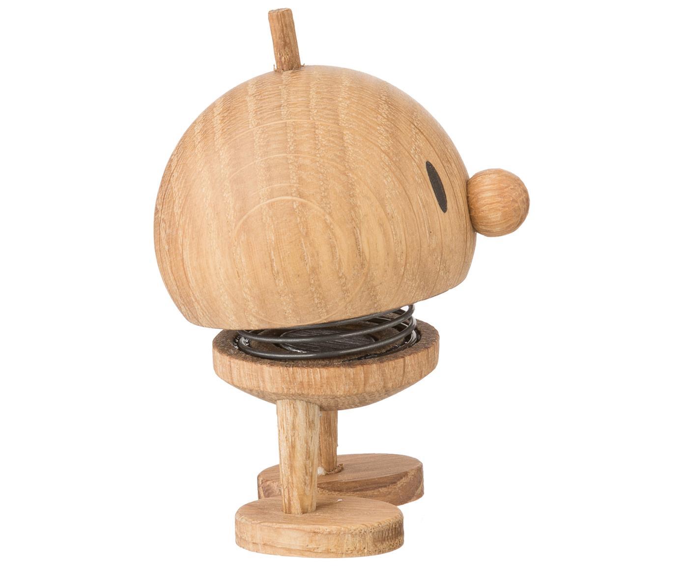 Decoratief object Baby Woody Bumble, Object: eikenhout, Bruin, Ø 5 x H 7 cm