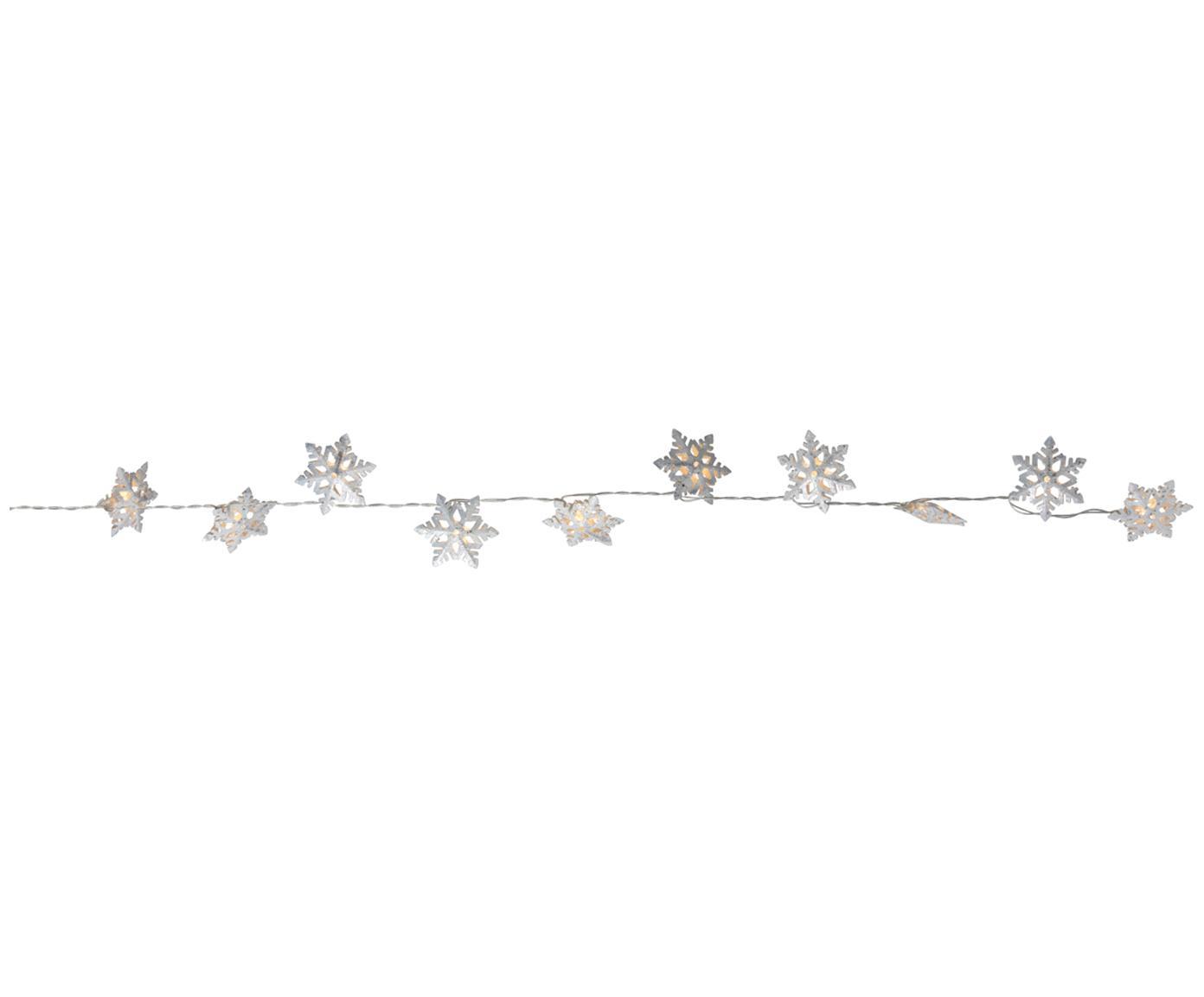 LED Lichterkette Flinga, Metall, Weiß, L 190 cm