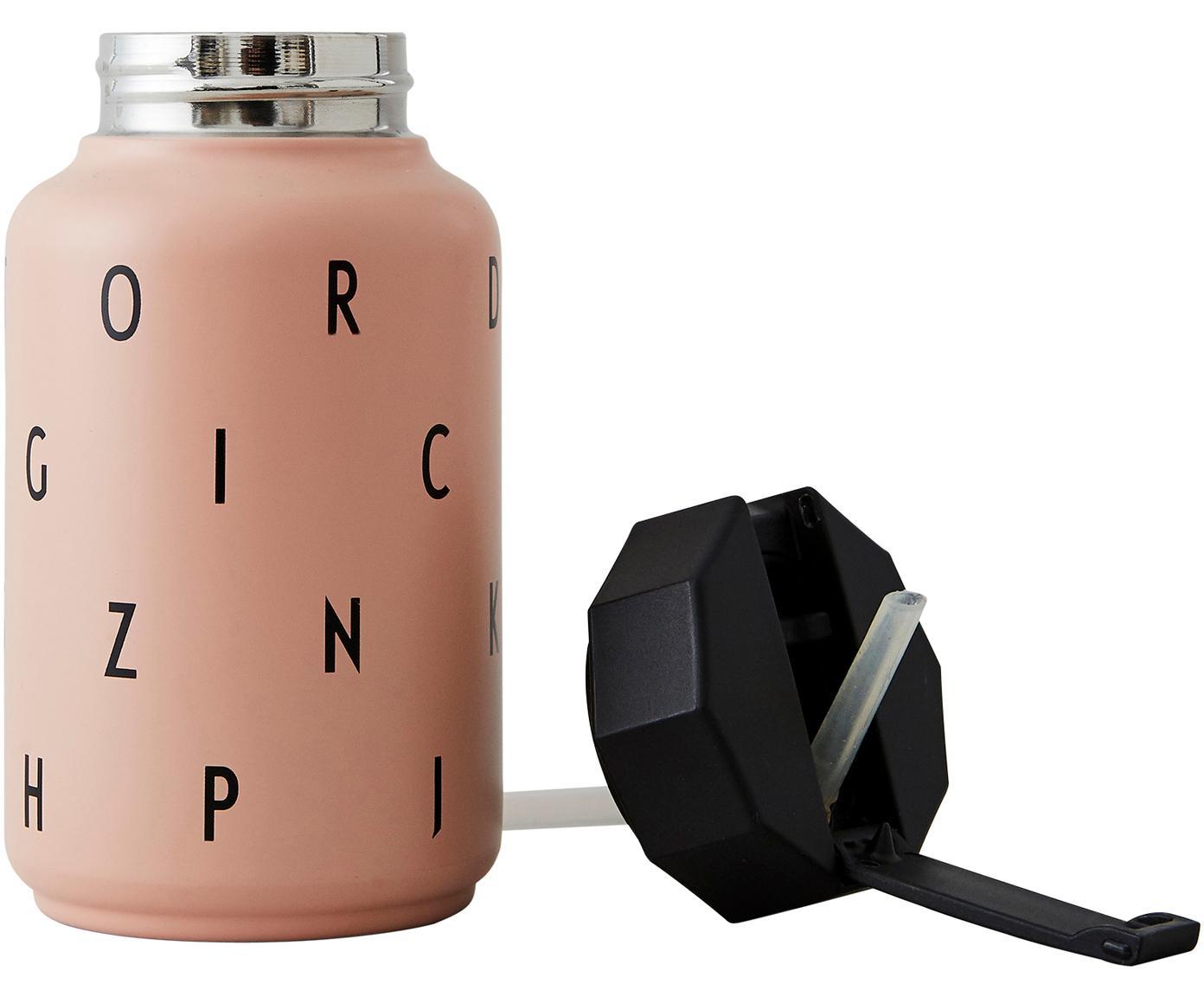Kinder-Isoliertrinkflasche Ilona mit Trinkhalm, Rosa, 330 ml