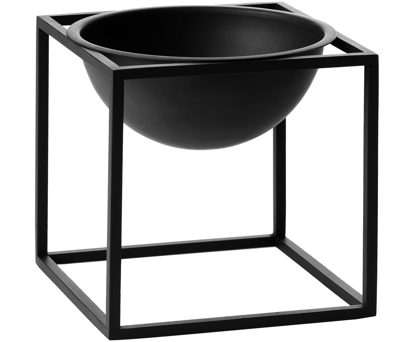 Bol Kubus, Acero, pintado, Negro, An 14 x Al 14 cm