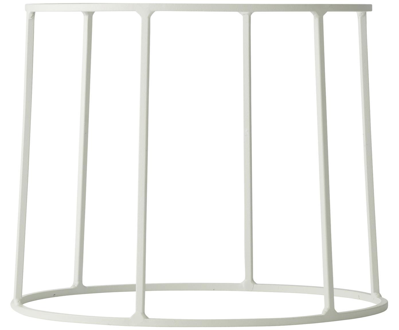 Stand per portavaso Wire Base, Acciaio verniciato a polvere, Bianco, Ø 23 x Alt. 20 cm