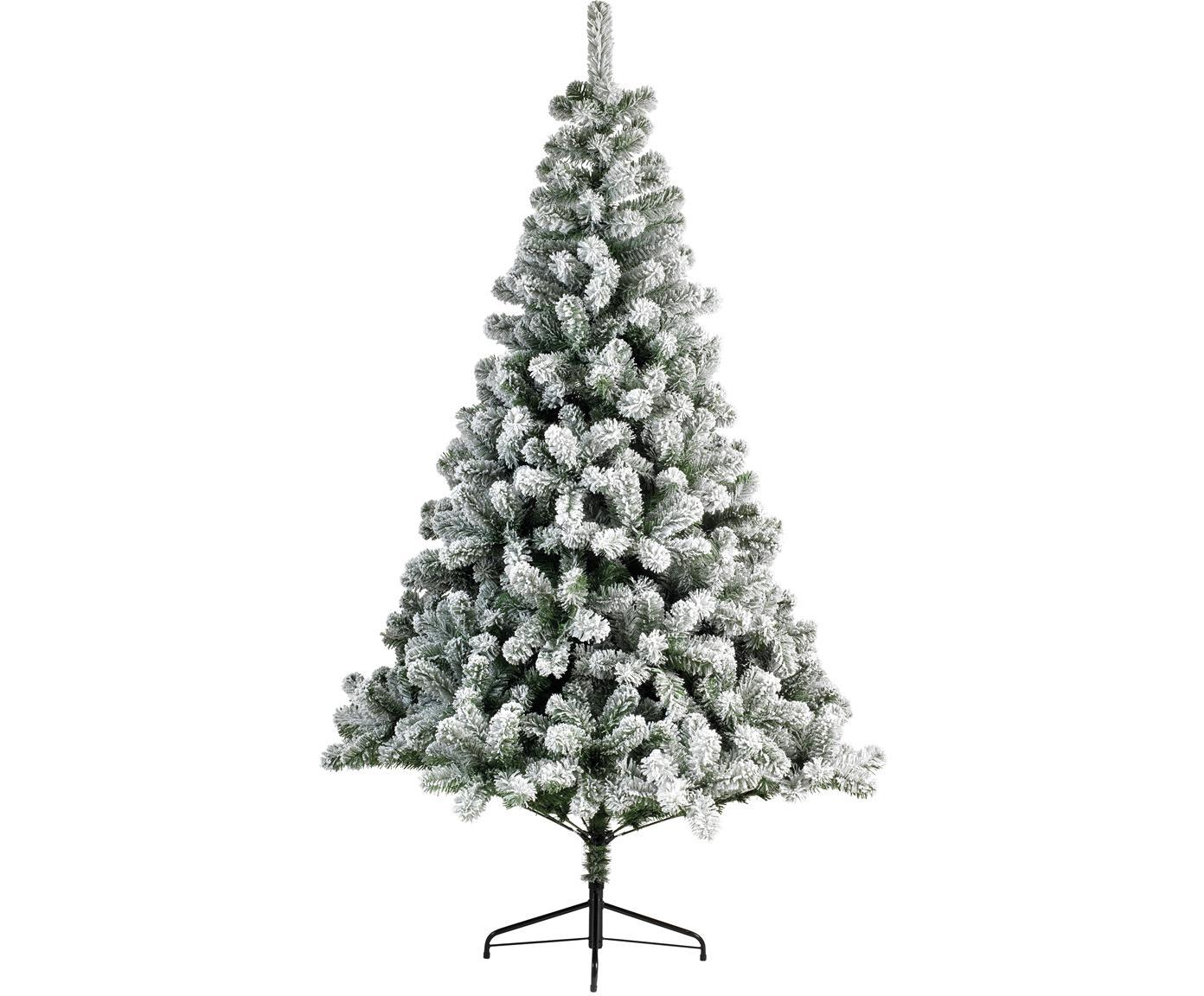 Künstlicher Weihnachtsbaum North Pole, Fuß: Metall, beschichtet, Grün, Weiß, Ø 137 x H 210 cm