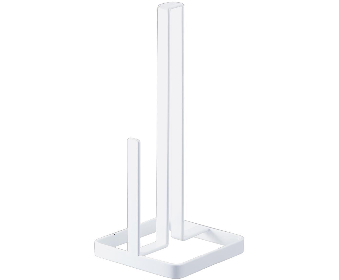 Keukenrolhouder Tower, Gecoat staal, Wit, 11 x 27 cm