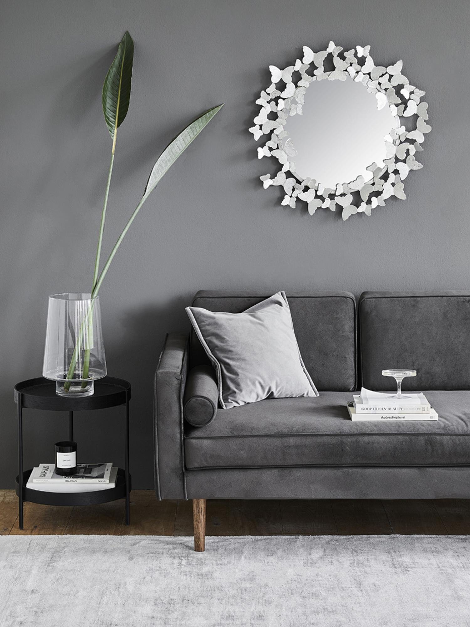Handgewebter Viskoseteppich Jane in Grau, Flor: 100% Viskose, Grau, B 300 x L 400 cm (Größe XL)