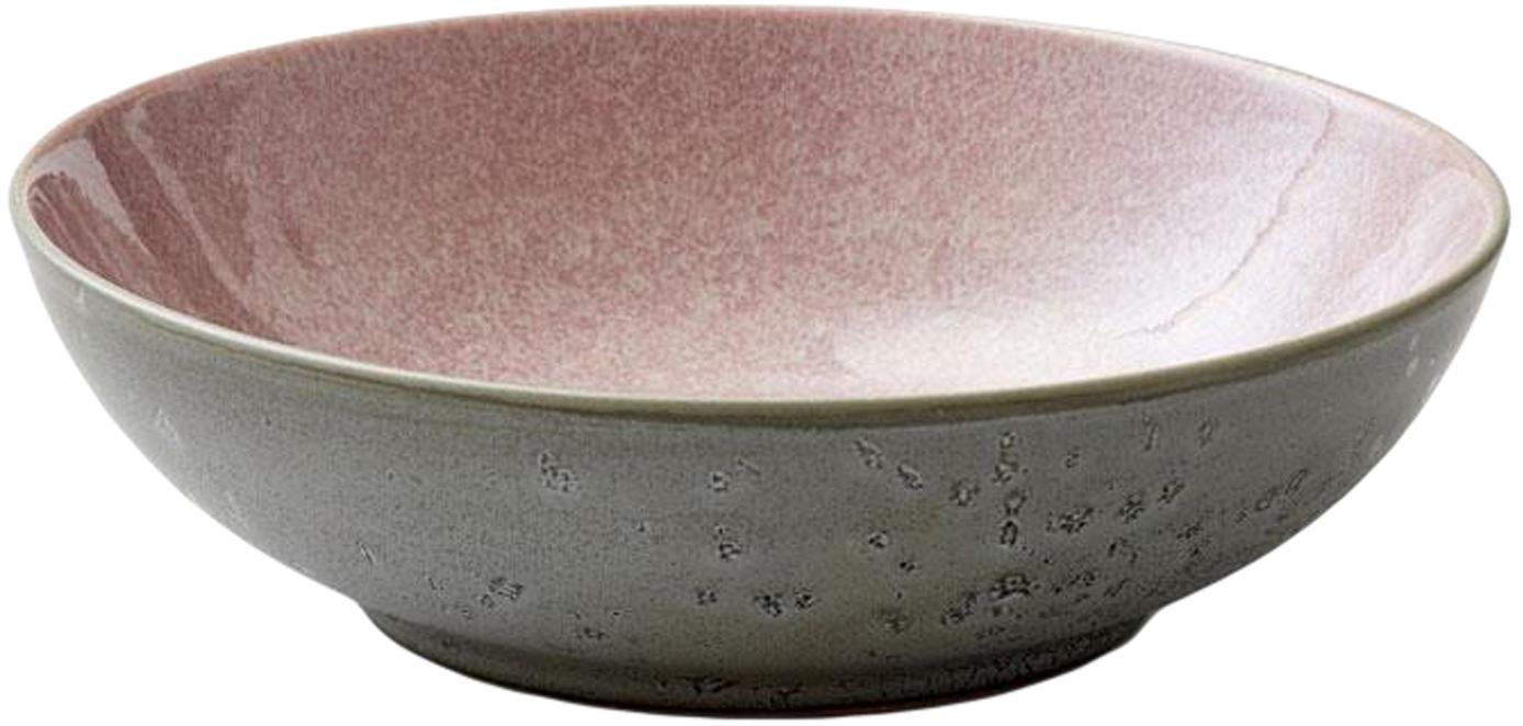 Salatschüssel Bit, Steingut, Rosa, Grau, Ø 24 x H 7 cm