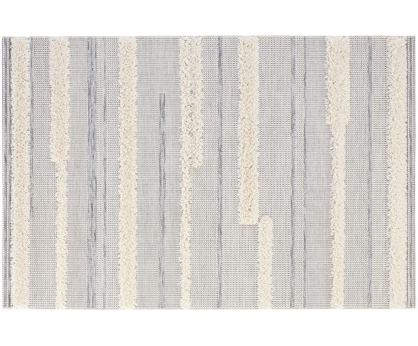 In- en outdoor vloerkleed Ifrane in grijs-crèmekleur, Bovenzijde: polypropyleen, Onderzijde: polypropyleen, Crèmekleurig, grijs, B 115 x L 170 cm (maat S)
