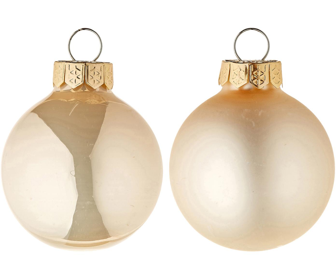 Mini-Weihnachtskugel-Set EvergreenØ4cm, 16-tlg., Cremefarben, Ø 4 cm