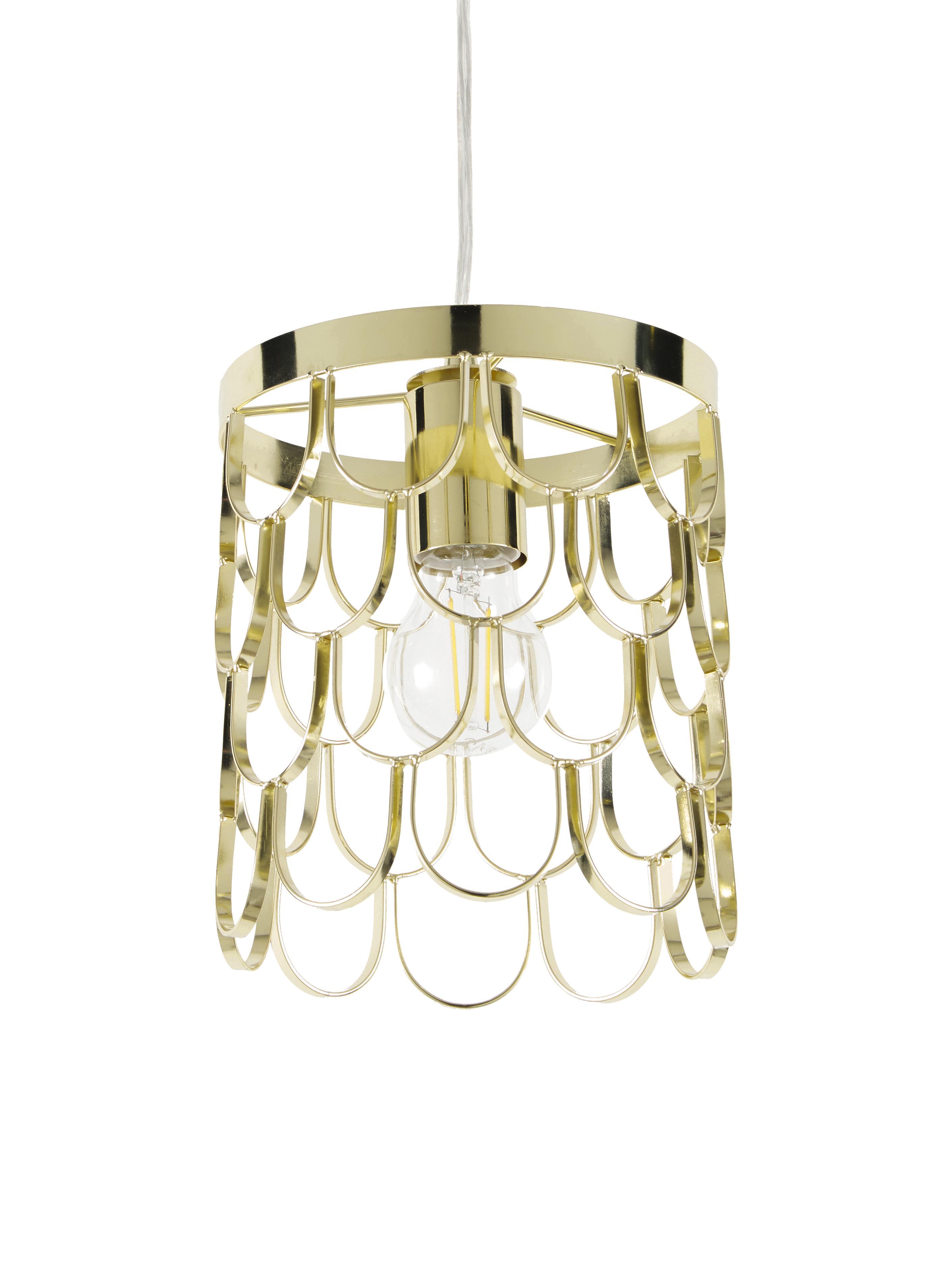 Lámpara de techo de diseño Gatsby, Cable: plástico, Latón, Ø 18 x Al 22 cm