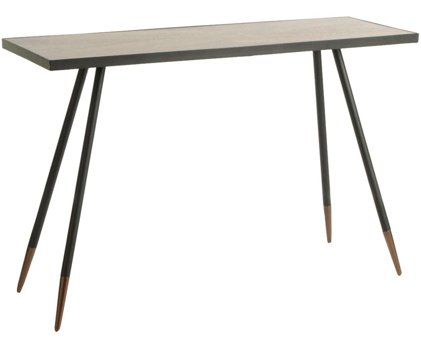 Consola Martin, Tablero: madera de fresno, Negro, marrón, An 121 x F 41 cm