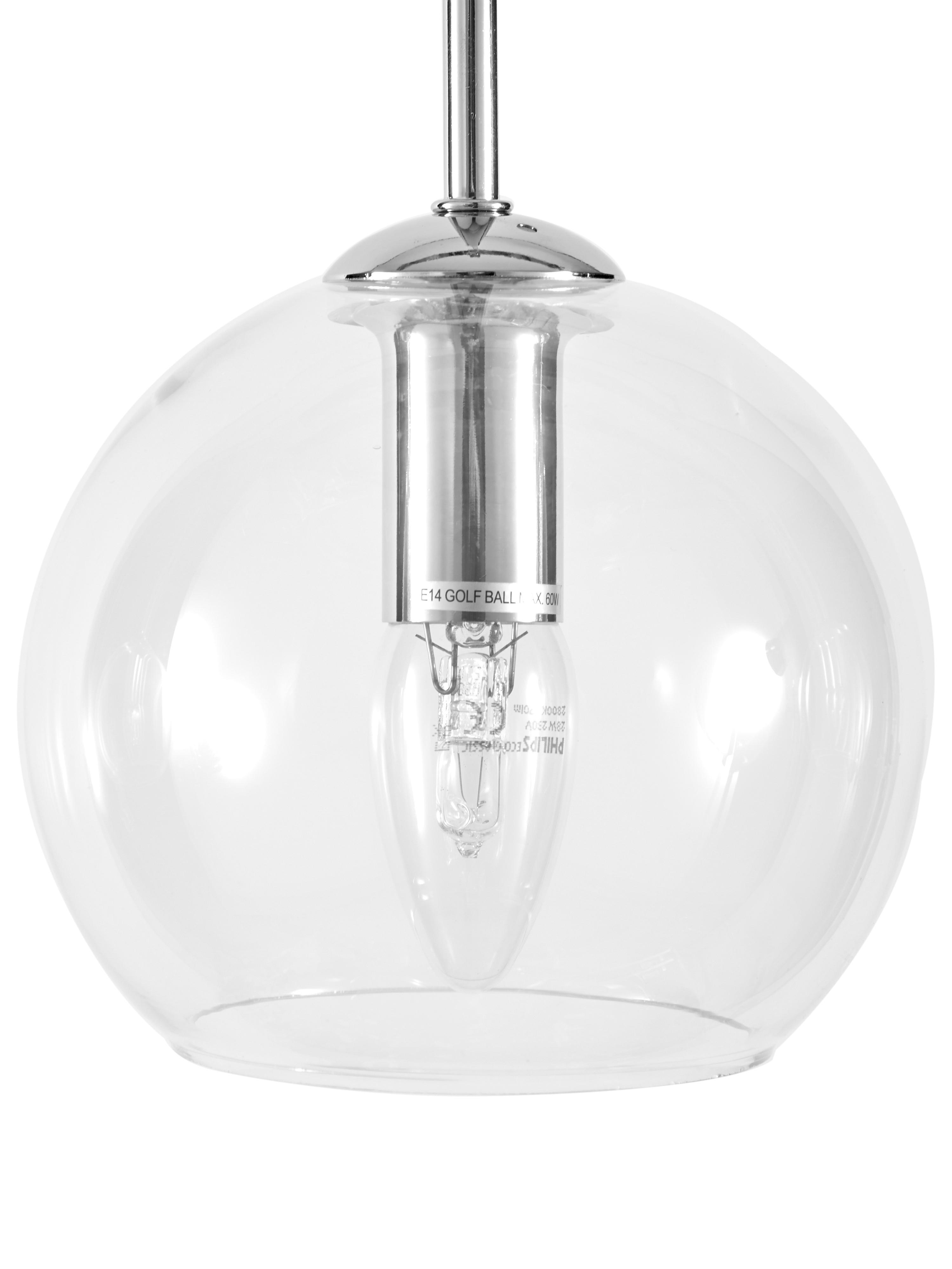 Závěsné svítidlo Hamilton, Transparentní