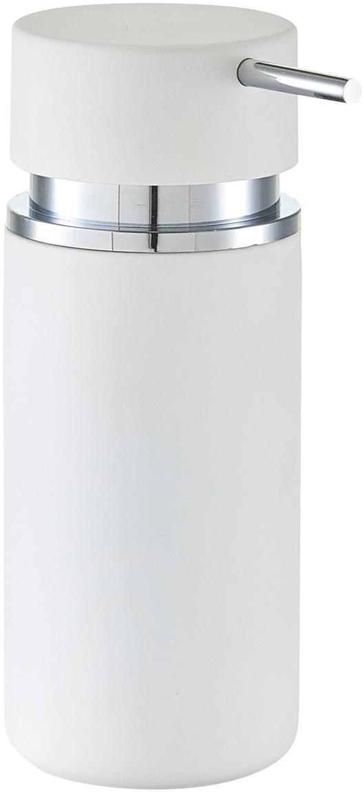 Dosatore per sapone Mateo, Bianco, cromo, Ø 7 x A 17 cm