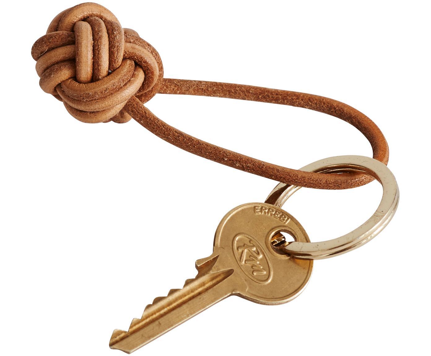 Portachiavi Knot, Pelle, Marrone, Ø 4 cm