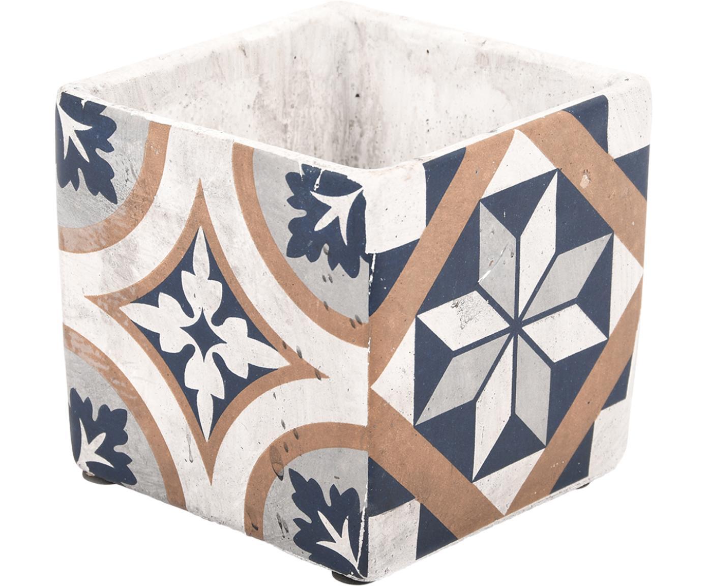 Macetero Portugal, Cemento, Multicolor, An 13 x Al 13 cm