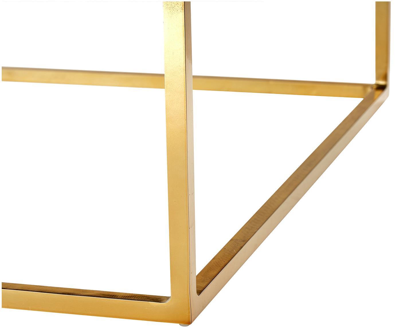 Mesa de centro de mármol Alys, Tablero: mármol, Estructura: metal recubierto, Mármol verde, dorado, An 120 x F 75 cm