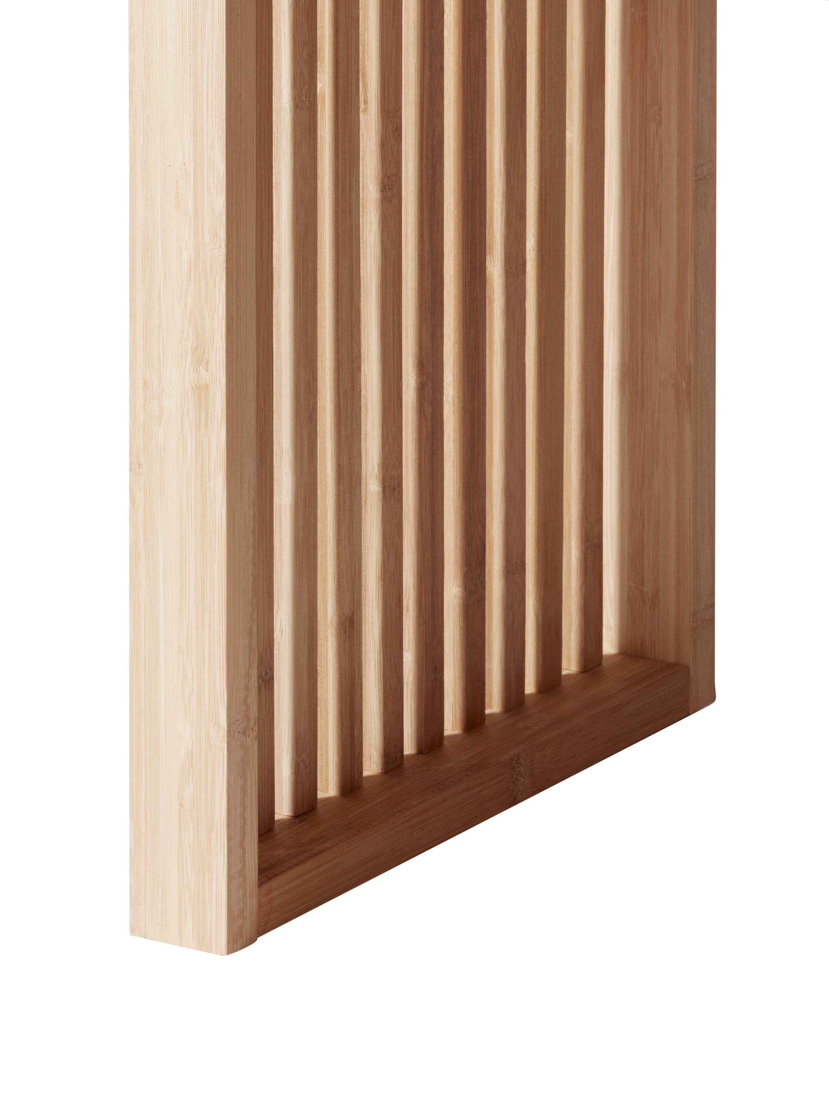 Kruk Rib van bamboehout, Gepolijst en geolied bamboehout, Bruin, 45 x 43 cm