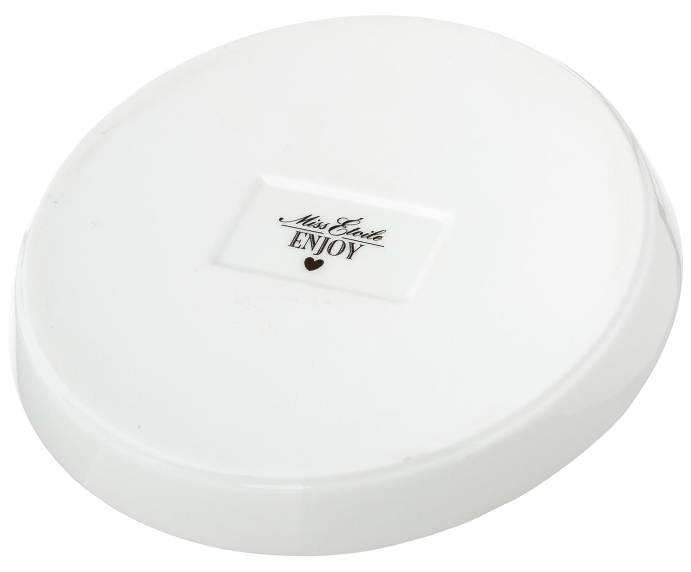 Piatto piano Stripe, Ceramica, Nero, bianco, Ø 17 cm