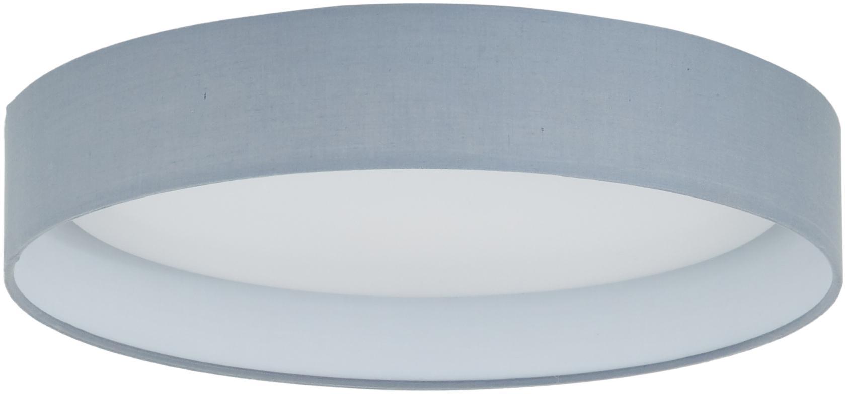 LED-Deckenleuchte Helen, Rahmen: Metall, Diffusorscheibe: Kunststoff, Grau, Ø 35 x H 7 cm