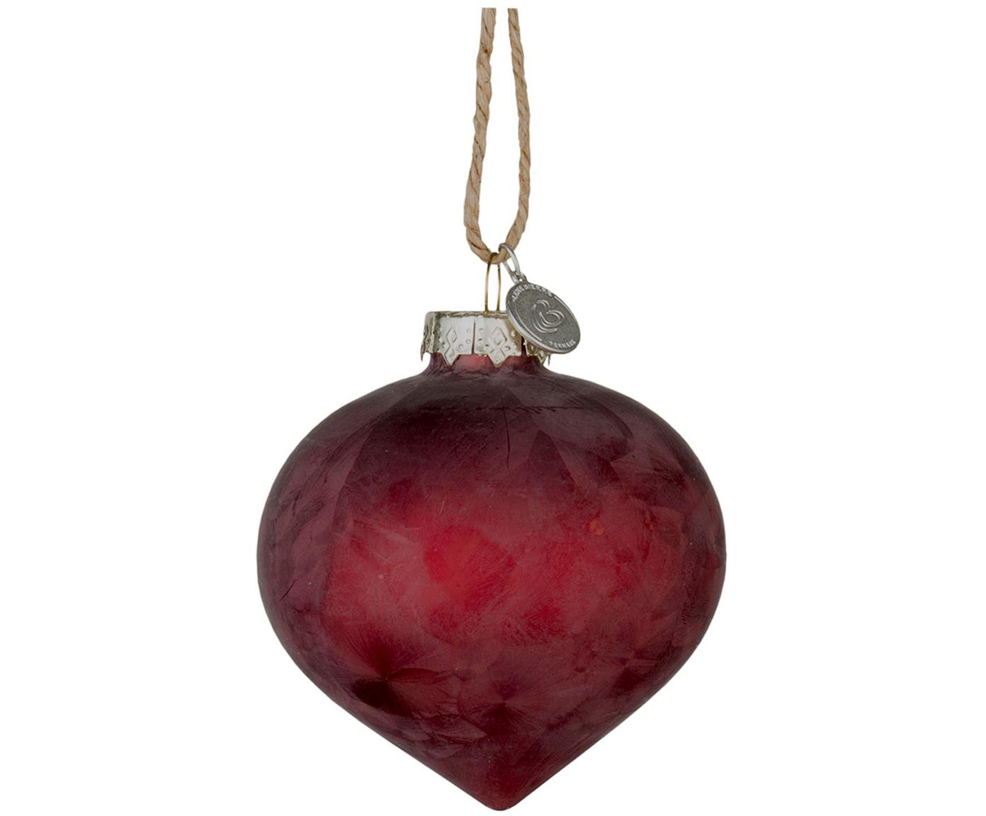 Baumanhänger Velma, 2 Stück, Granatapfelrot, Ø 8 x H 9 cm