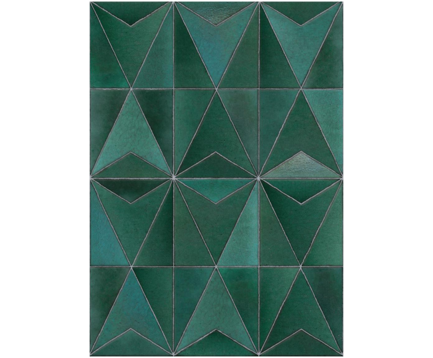 Adesivo murale Jade Green, Vello, Verde scuro, Larg. 200 x Alt. 280 cm