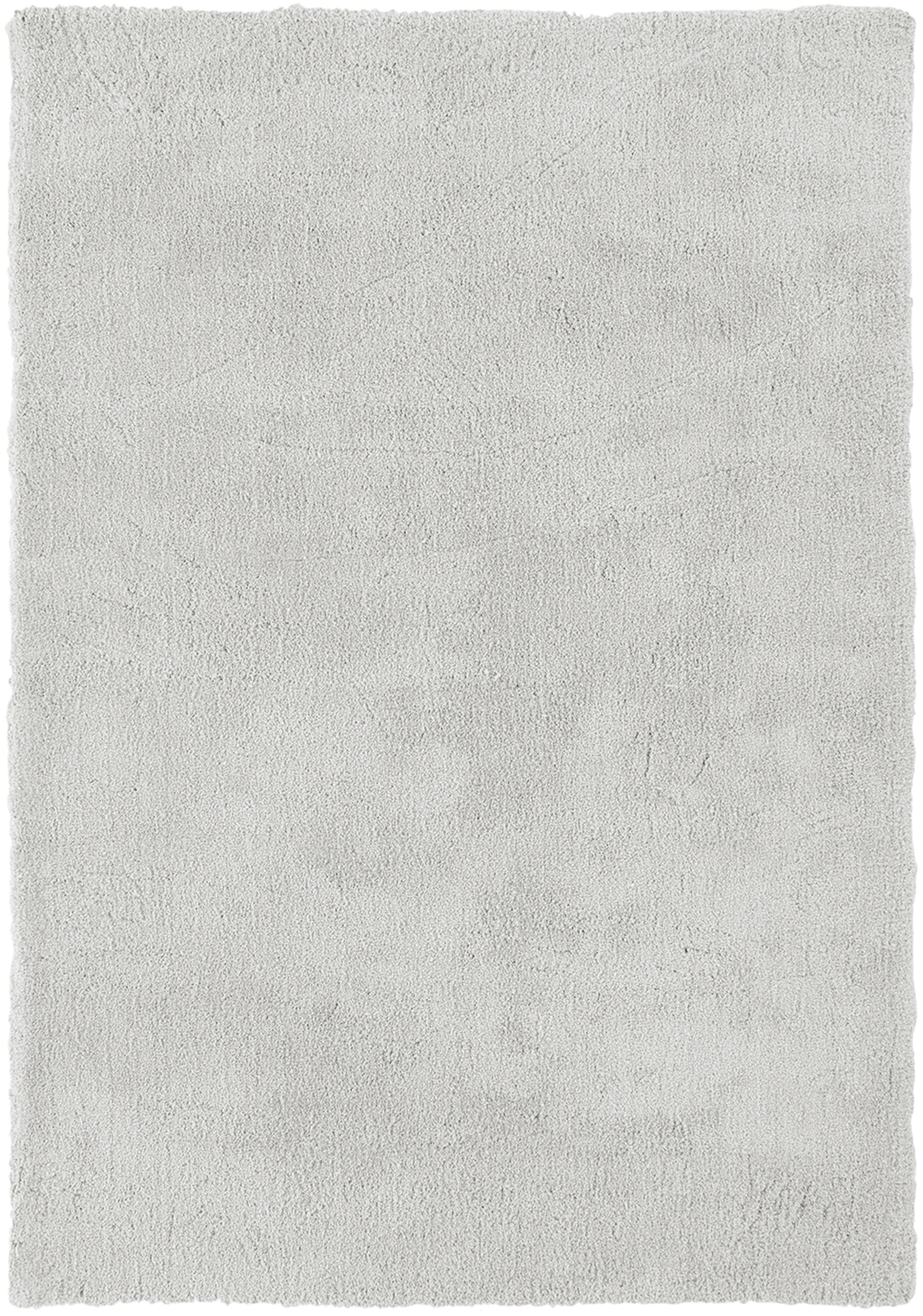 Flauschiger Hochflor-Teppich Leighton in Hellgrau, Flor: 100% Polyester (Mikrofase, Hellgrau, B 200 x L 300 cm (Grösse L)
