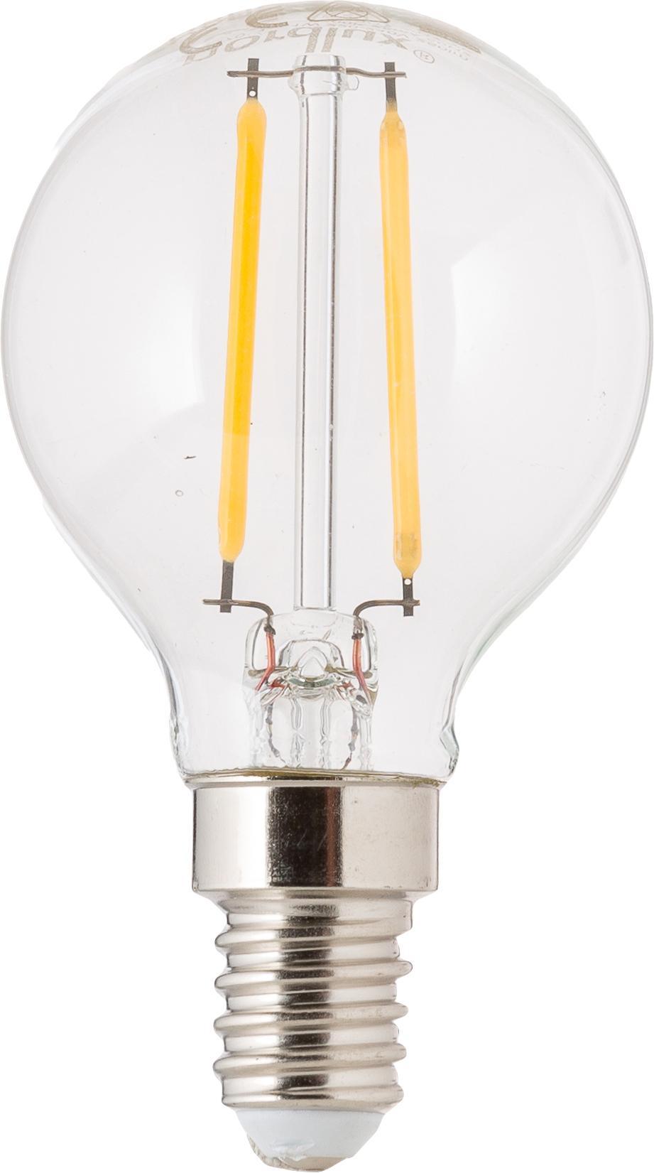 LED lamp Yekon (E14 / 2W) 5 stuks, Peertje: glas, Fitting: aluminium, Transparant, Ø 5 x H 8 cm