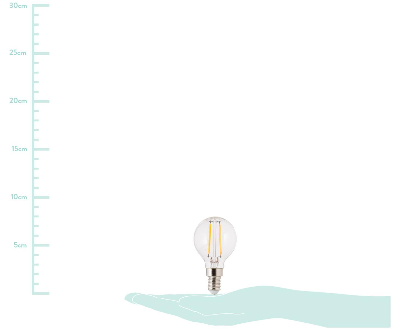 LED Leuchtmittel Yekon (E14/2.5W), 5 Stück, Leuchtmittelschirm: Glas, Leuchtmittelfassung: Aluminium, Transparent, Ø 5 x H 8 cm