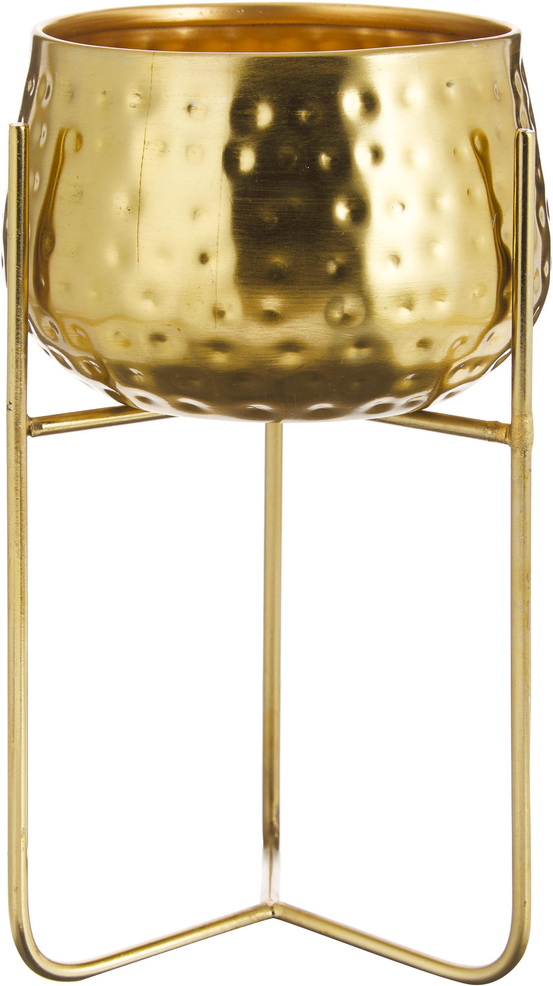 Portavaso Werton, Metallo, rivestito, Dorato, Ø 13 x Alt. 23 cm
