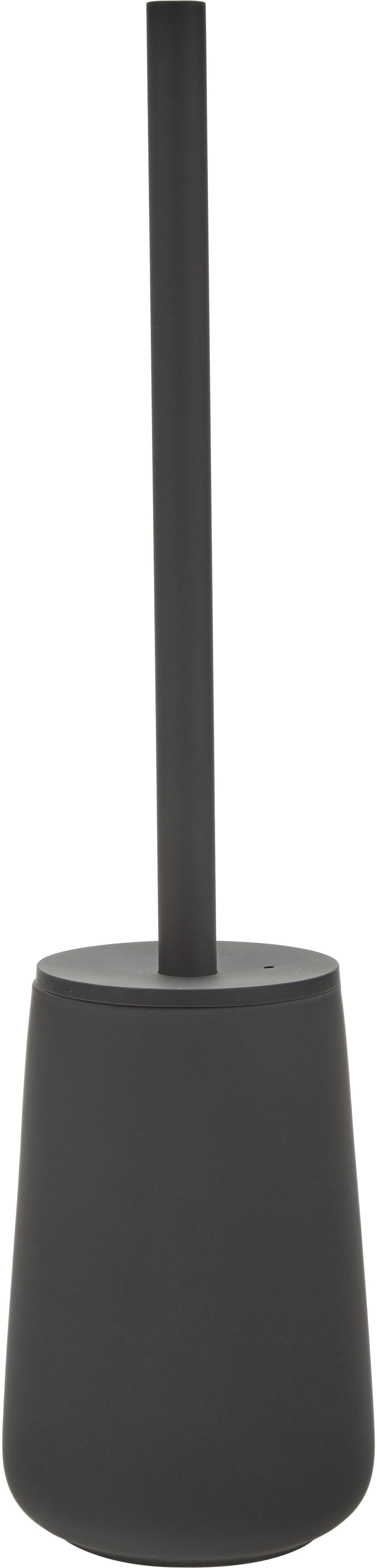 Escobilla de baño Nova One, Recipiente: porcelana, Negro, Ø 10 x Al 43 cm