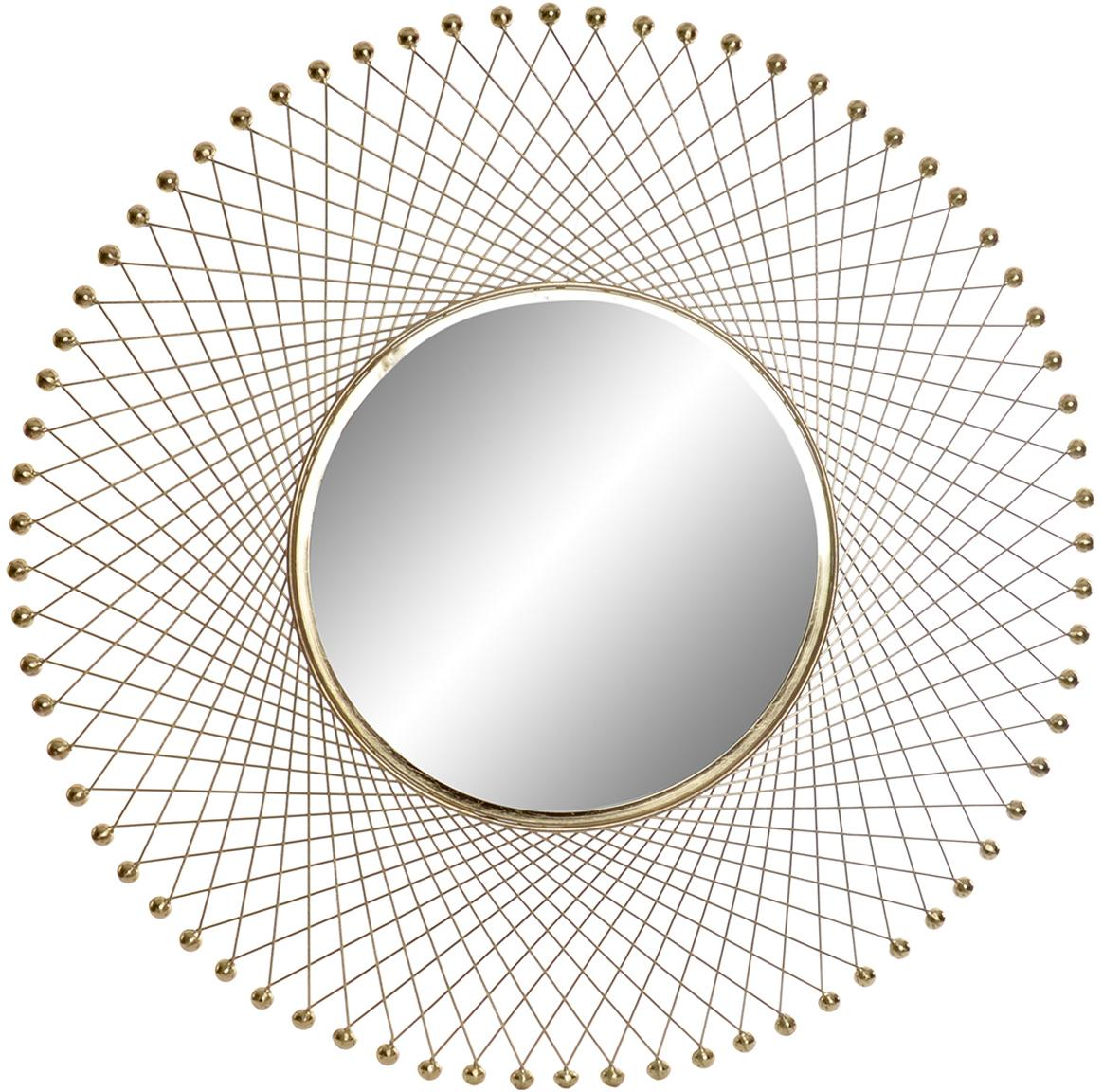Espejo de pared You Shine, Espejo: cristal, Dorado, Ø 91 cm