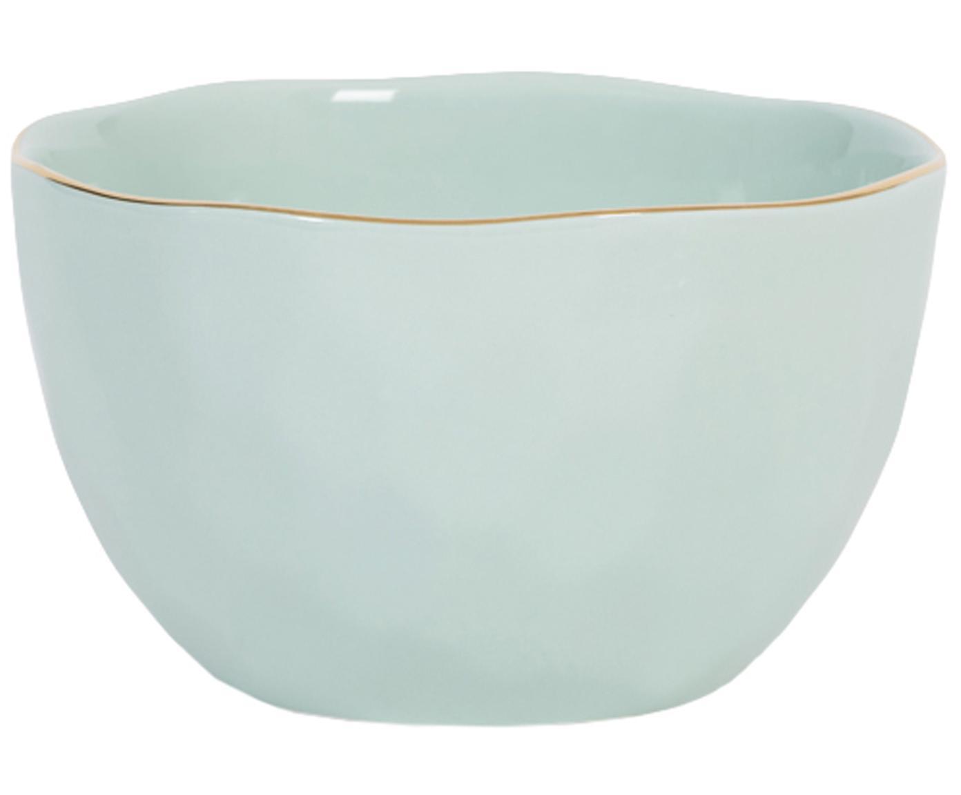 Cuencos Good Morning, Porcelana, Menta, dorado, Ø 14 cm