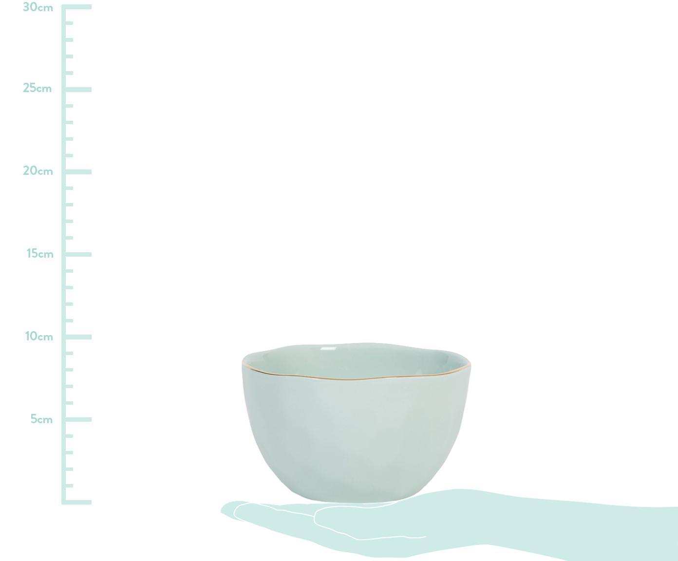 Schaal Good Morning, Porselein, Mint, goudkleurig, Ø 14 cm