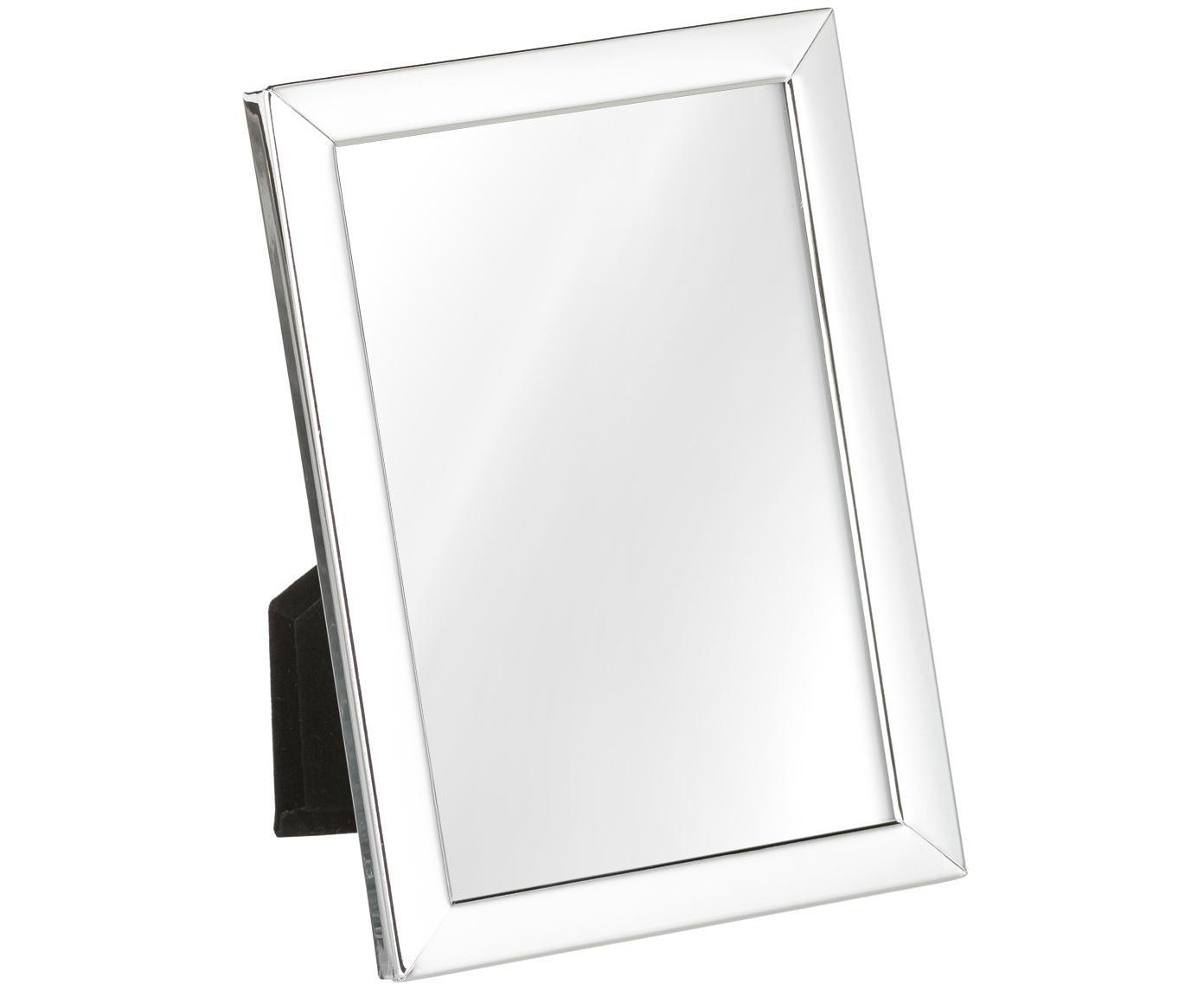 Cornice Aosta, Cornice: metallo argentato, Retro: pannello di fibra a media, Argento, 13 x 18 cm
