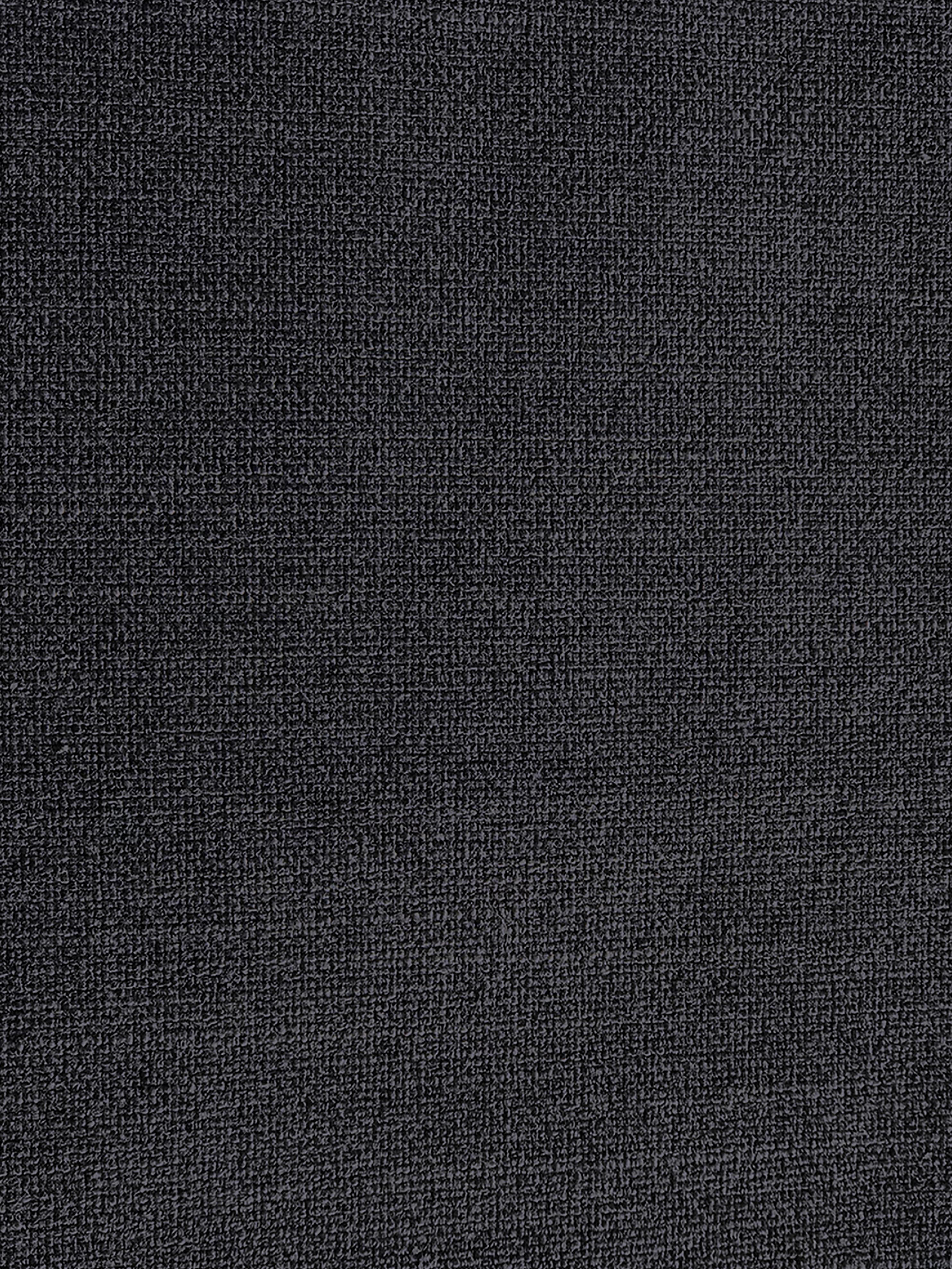 Ecksofa Moby, Bezug: Polyester Der hochwertige, Gestell: Massives Kiefernholz, Füße: Metall, pulverbeschichtet, Webstoff Dunkelgrau, B 280 x T 160 cm