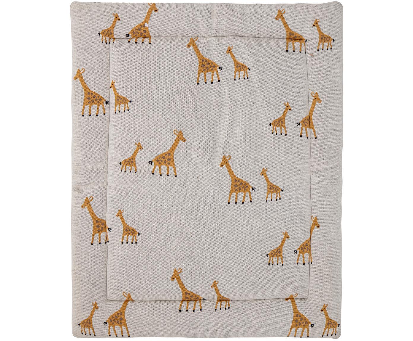 Manta Giraffe, Tapizado: algodón, certificado Oeko, Beige, An 77 x L 100 cm