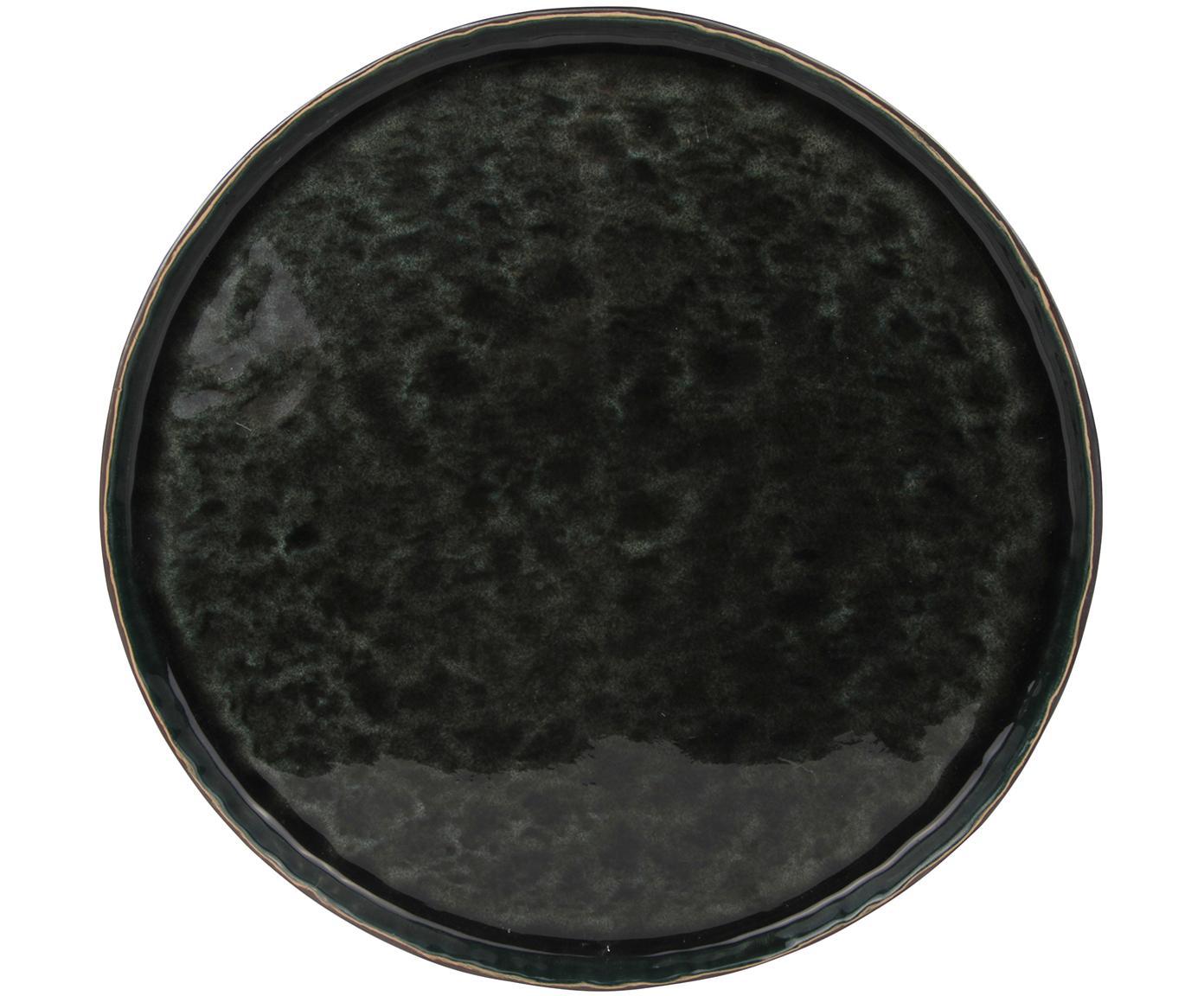 Piatto piano Lagune 4 pz, Ceramica, Marrone grigiastro, nero verde, Ø 27 cm