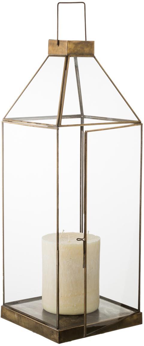 Windlicht Aladin, Frame: gecoat metaal, Bronskleurig, 20 x 50 cm