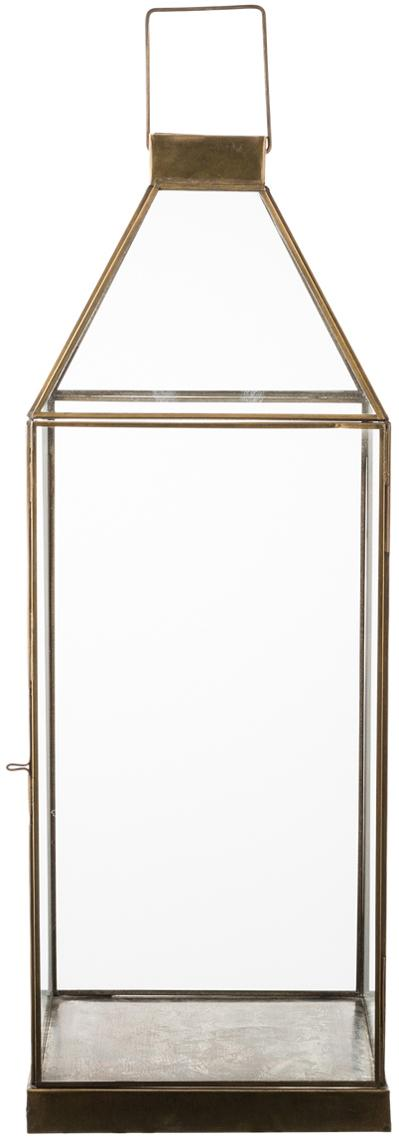 Portavelas Aladin, Estructura: metal, recubierto, Bronce, An 15 x Al 30 cm
