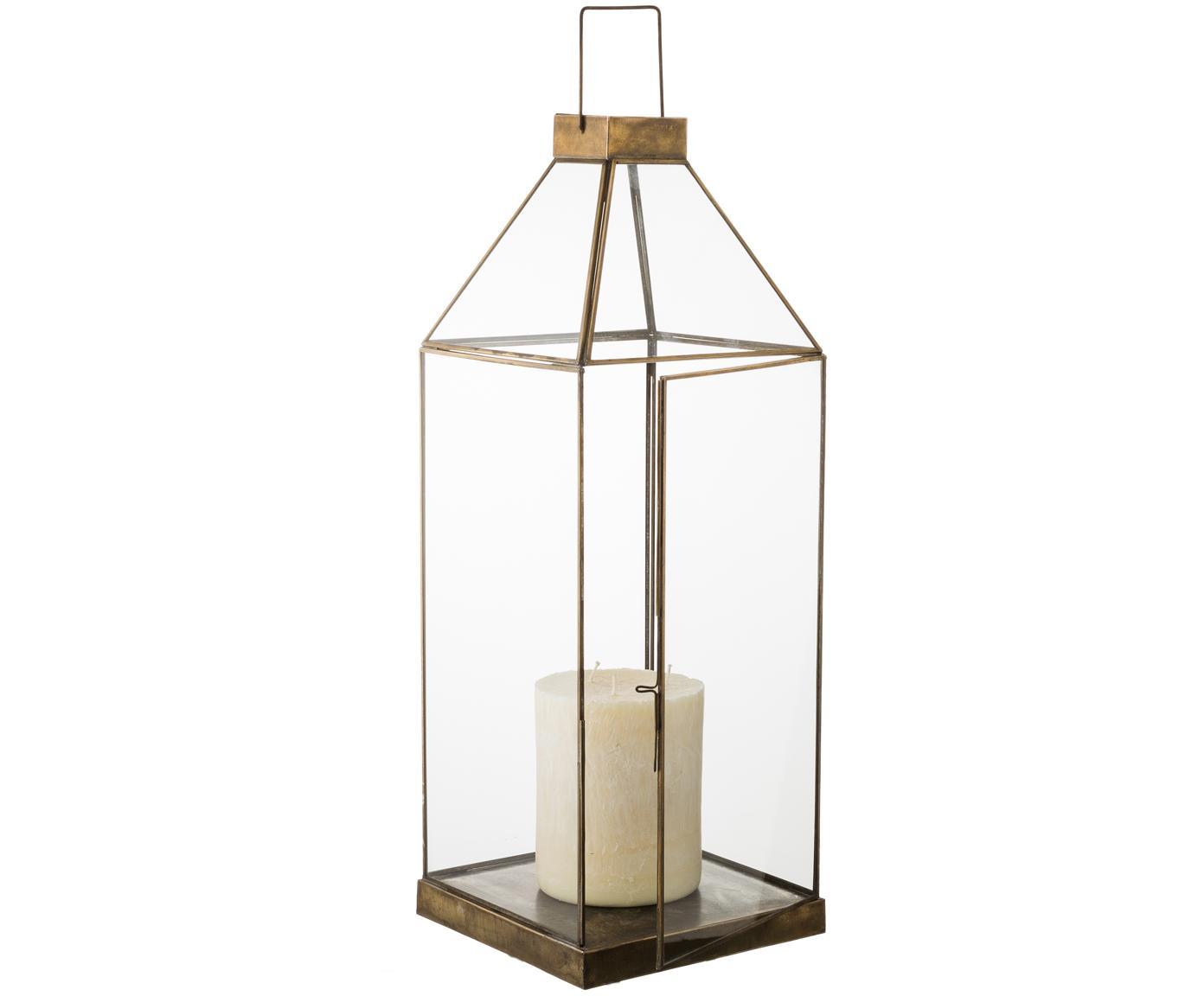 Portavelas Aladin, Estructura: metal, recubierto, Bronce, An 20 x Al 50 cm