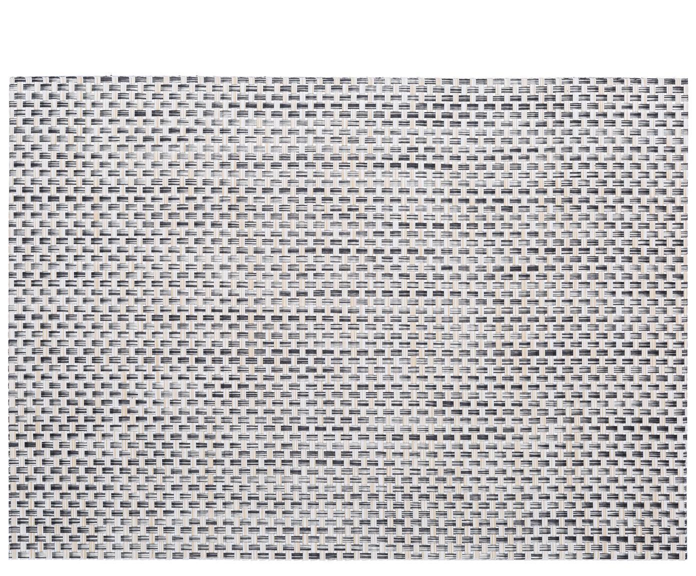 Kunststof Placemats Modern, 2 stuks, Kunststof Vlekken verwijderen met behulp van een vochtige doek., Beige, Lichtgrijs, 33 x 46 cm