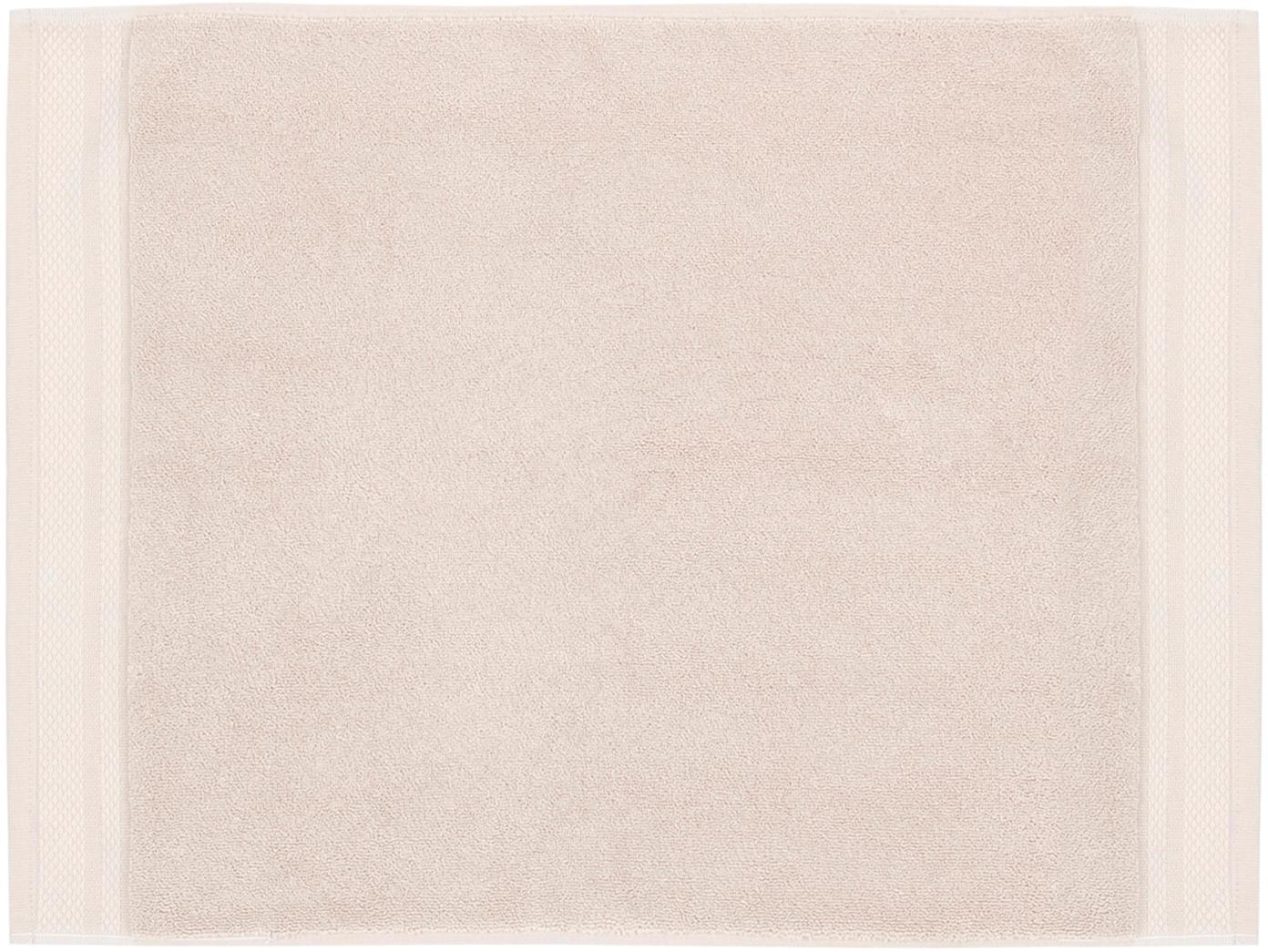 Tappeto bagno antiscivolo Premium, Cotone, qualità pesante 600g/m², Beige, Larg. 50 x Lung. 70 cm