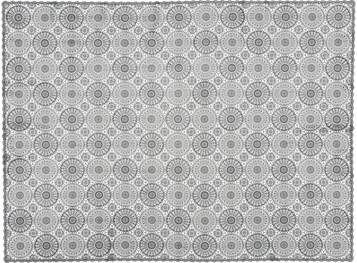 Nappe en plastique aspect crocheté Crochet, Noir