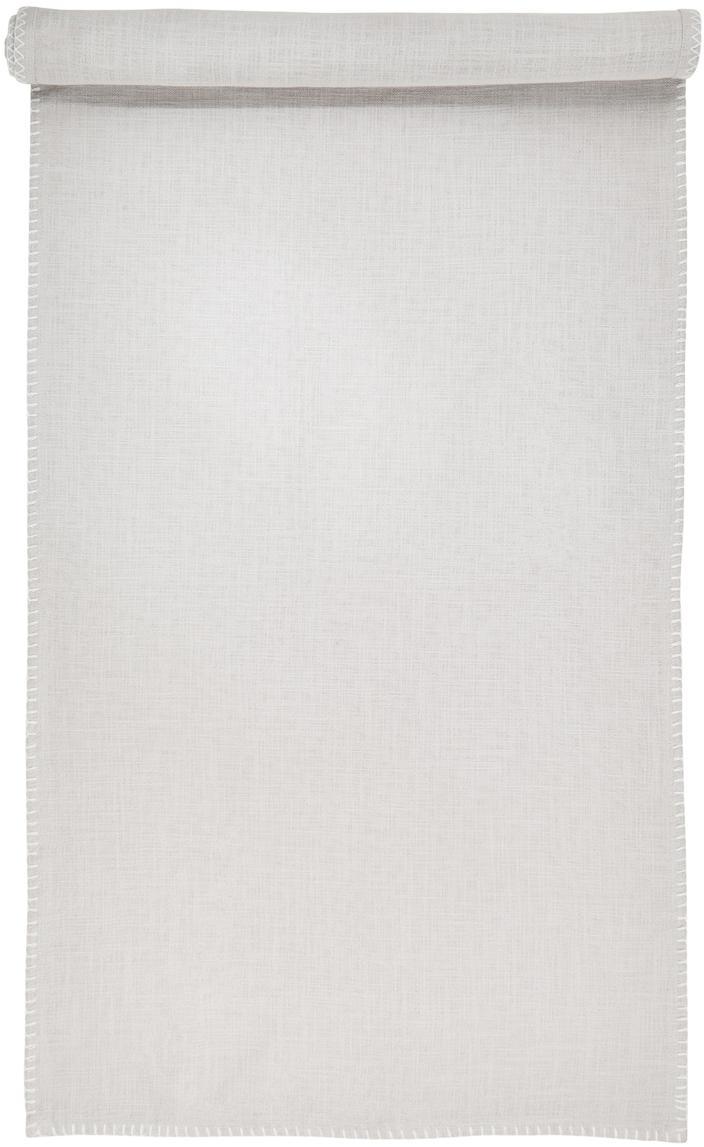 Runner da tavolo Finca, Cotone, Grigio, Larg. 50 x Lung. 160 cm